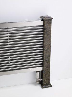 horizontaler design heizkörper wohnzimmer wohnraum heizung nessa edelstahl