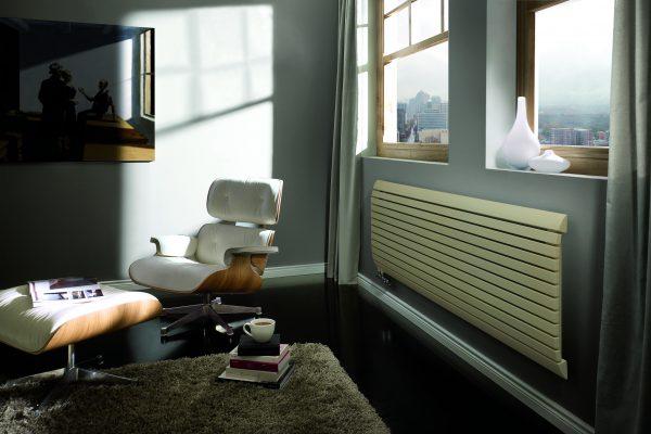 horizontaler design heizkörper wohnzimmer wohnraum heizung arrow