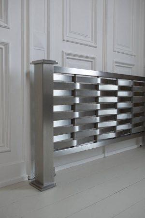 horizontaler design heizkörper wohnzimmer wohnraum heizung dalga edelstahl
