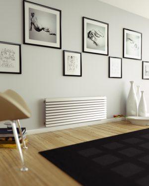 horizontaler design heizkörper wohnzimmer wohnraum heizung armando edelstahl
