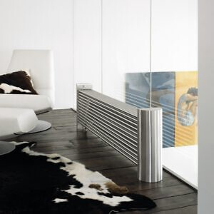 design heizkörper horizontal edelstahl wohnzimmer wohnraum heizung monti