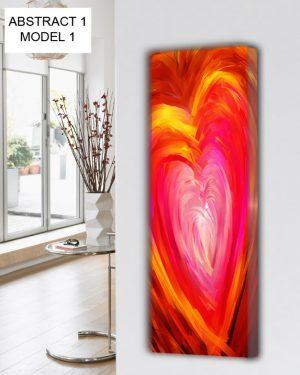vertikaler design heizkörper küche wohnzimmer wohnraum heizung abstrakt