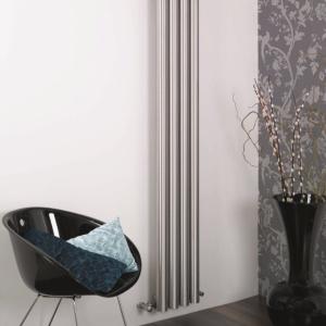 Edelstahl design heizkörper vertikal barok küche wohnzimmer wohnraum heizung