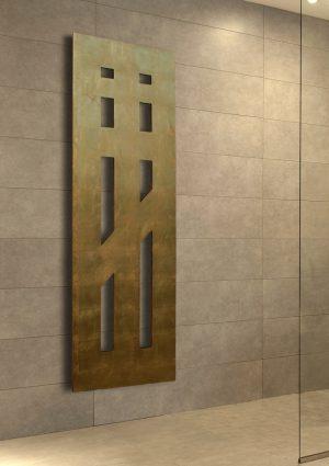 vertikaler design heizkörper insto küche wohnzimmer heizung