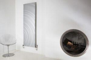 Aluminium vertikaler design heizkörper amaya wohnzimmer heizung