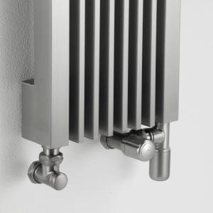 Edelstahl design heizkörper vertikal artiz küche wohnzimmer wohnraum heizung