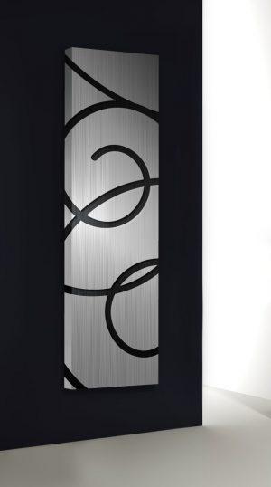 vertikaler design heizkörper basquiat küche wohnzimmer wohnraum heizung