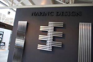Edelstahl vertikaler design heizkörper canti küche wohnzimmer wohnraum heizung