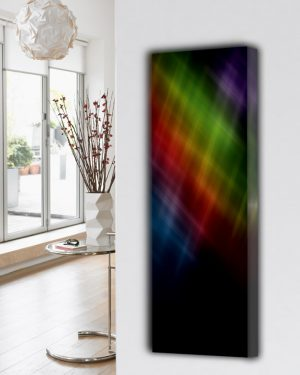 verticale design radiator woonkamer keuken abstract