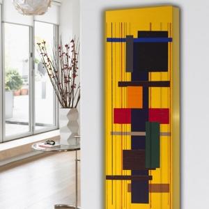 design heizkörper vertikal küche wohnzimmer wohnraum heizung abstrakt