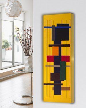 abstracte verticale design radiator woonkamer en keuken