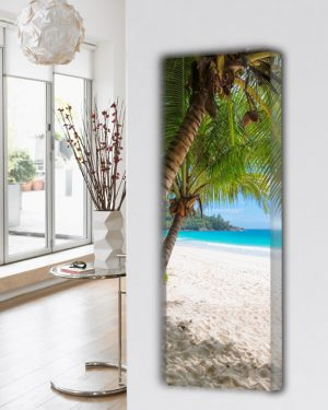 vertikaler design heizkörper küche wohnzimmer wohnraum heizung natur