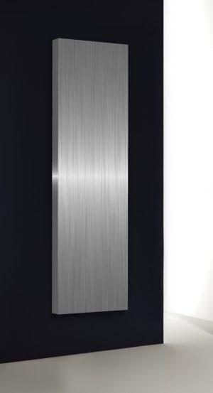 verticale design radiator woonkamer stilo rvs en aluminium