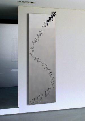vertikaler design heizkörper festa küche wohnraum wohnzimmer heizung