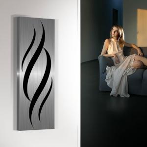 vertikaler design heizkörper küche wohnzimmer wohnraum heizung flames