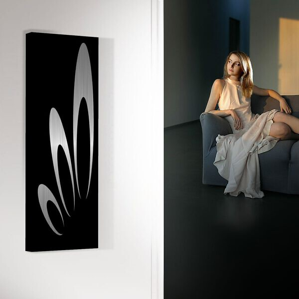 vertikaler design heizkörper küche wohnzimmer wohnraum heizung hera