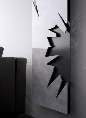 vertikaler design heizkörper maximus wohnraum wohnzimmer heizung