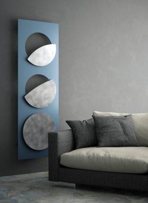 vertikaler design heizkörper moon küche wohnzimmer heizung