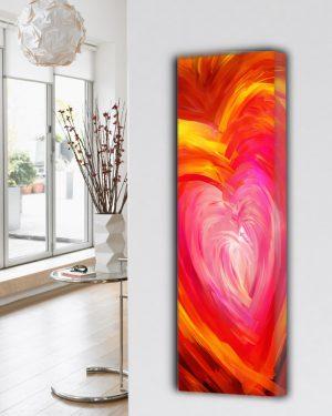 moderne verticale woonkamer keuken design radiator