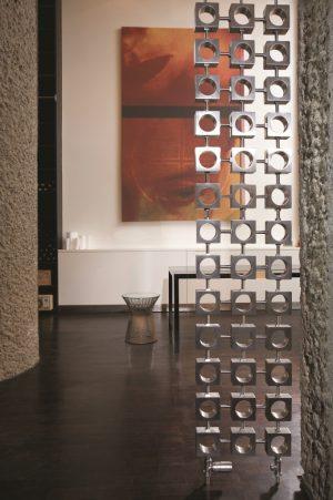 Edelstahl vertikaler design heizkörper santomi küche wohnzimmer wohnraum heizung