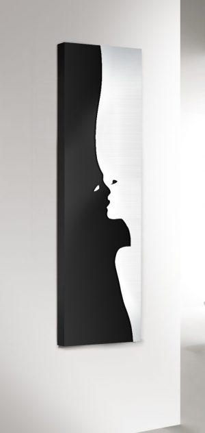 vertikaler design heizkörper the kiss küche wohnzimmer wohnraum heizung