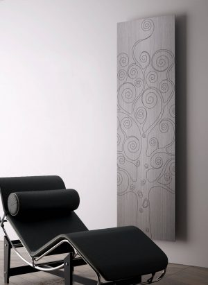 verticale design radiator woonkamer tree