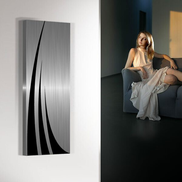 verticale design radiator woonkamer keuken unda