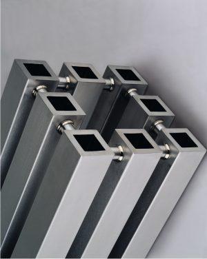 Edelstahl vertikaler design heizkörper vitan küche wohnzimmer wohnraum heizung