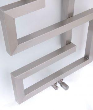 Edelstahl badezimmer design heizkörper milano